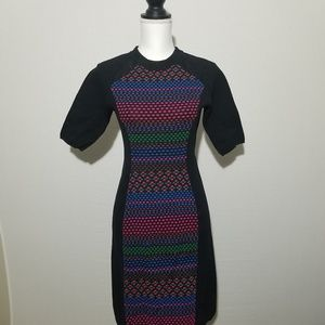 M Missoni Colorful Classic Weave Shift Dress